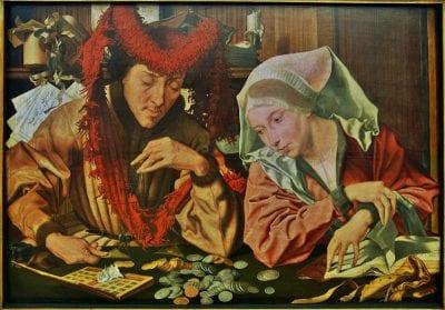 Marinus van Reymerswaele, Banker and His Wife, 1538,  Alte Pinakothek, Munich