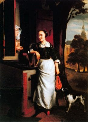 The Maidservant,  Nicolaes Maes, ca. 1659, Dordrechts Museum (on loan from the Netherlands Institute for Cultural Heritage, Amsterdam)