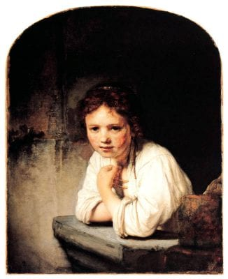 Girl at a Window,  Rembrandt van Rijn, 1645, Dulwich Picture Gallery
