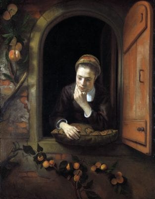 Girl at a Window,  Nicolaes Maes, 1650–60, Rijksmuseum, Amsterdam