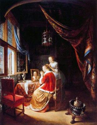 Lady at Her Toilet, Gerrit Dou, 1667, Museum Boymans-van Beuningen, Rotterdam