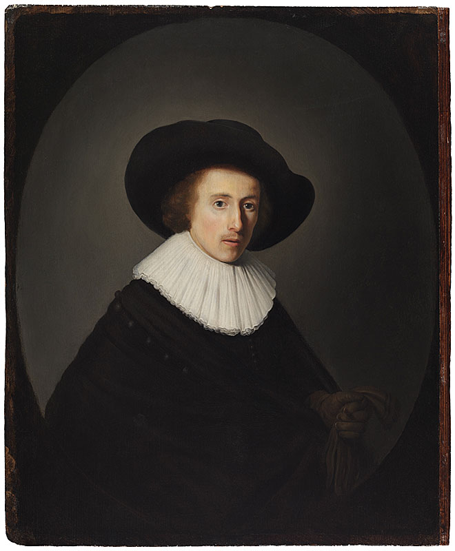 Gerrit Dou,  Portrait of a Young Man with a Hat,  ca. 1635,  The Leiden Collection, New York