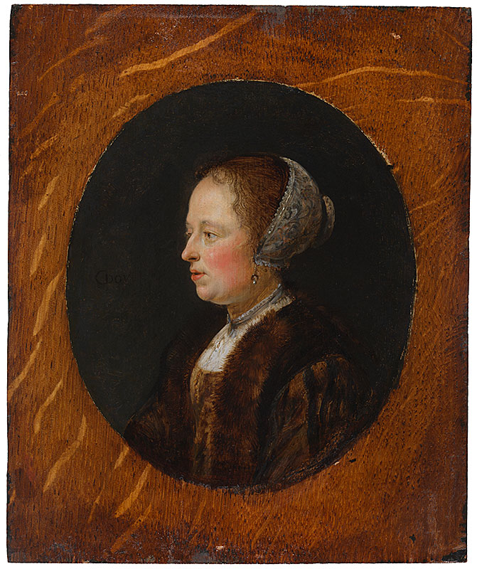 Gerrit Dou,  Portrait of a Lady in Profile,  ca. 1635–40,  The Leiden Collection, New York