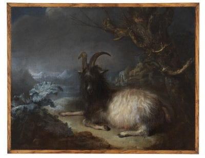 Gerrit Dou, Goat in a Landscape,  ca. 1660–65,  The Leiden Collection, New York