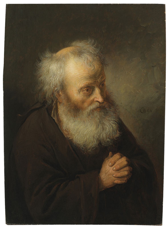 Gerrit Dou,  Hermit Praying,  ca. 1665–70,  The Leiden Collection, New York