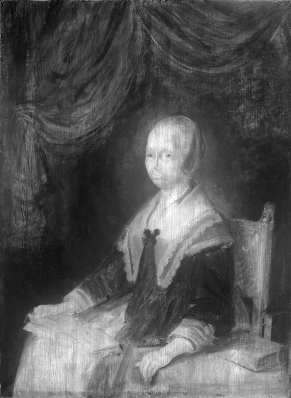 Infrared image ofPortrait of a Lady with a Musi,