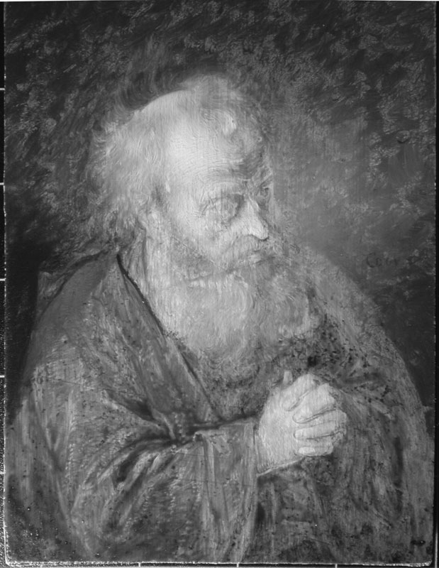 Infrared image of Hermit Praying showing vigoro,
