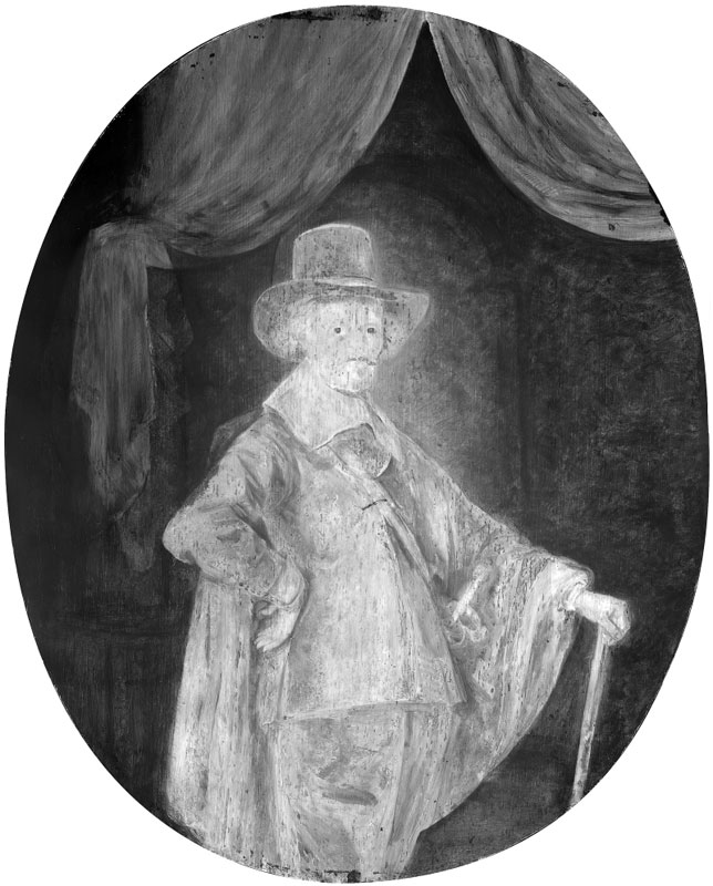 Infrared image ofPortrait of a Gentleman with a,