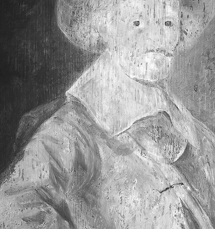 Infrared image detail ofPortrait of a Gentleman,