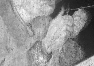 Infrared image detail ofScholar Sharpening a Qu,