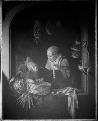 Infrared image ofHerring Seller and a Boy,100,
