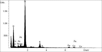 Elemental composition obtained by X-ray spectrome,