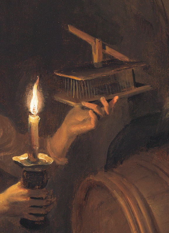 Dominicus van Tol,  Boy with a Mousetrap, detail,  ca. 1660–64,  The Leiden Collection, New York