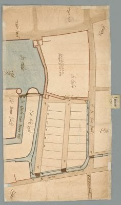 Plan 3308C, showing the initial subdivision of th, Nationaal Archief, The Hague