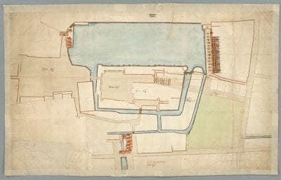Plan 3309B, an overview plan of the new unified c, Nationaal Archief, The Hague