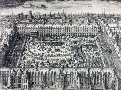 Claude Chastillon, Place Royale, engraving fromDessins des Pompes e, Musée national du château de Pau