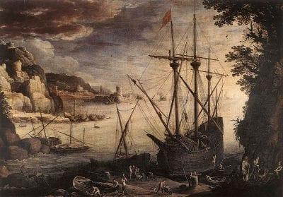 Paul Bril,  Seaport, 1610,  Musées Royaux des Beaux-Arts, Brussels