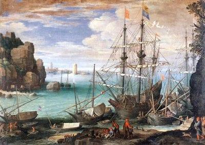 Paul Bril,  Seaport, 1611,  Museo e Galleria Borghese, Rome
