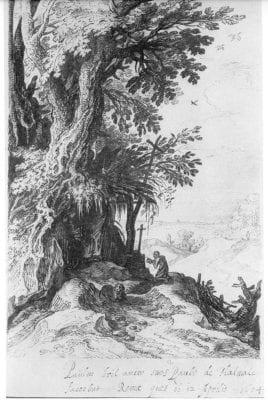 Paul Bril, Saint Jerome, 1604, Lugt Collection, Paris