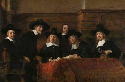 Rembrandt van Rijn, Sampling Officials of the Drapers' Guild, insc, Rijksmuseum, Amsterdam