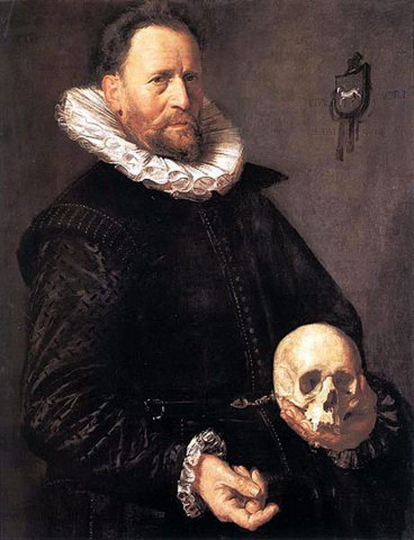 Frans Hals,  Portrait of a Sixty-year-old Man Holding a Skull,  ca. 1611,  The Barber Institute of Fine Arts, Birmingham
