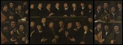 Dirck Jacobsz, Men of the Harquebusier Militia, inscribed with , Rijksmuseum, Amsterdam
