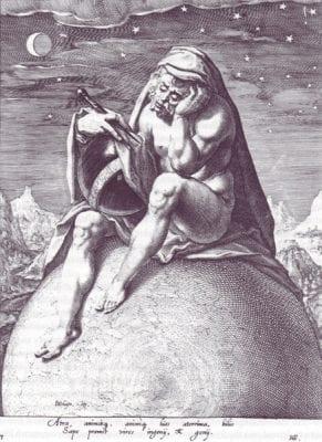 Zacharias Dolendo (?) (after Jacob de Gheyn II), The Melancholic Temperament, ca. 1596/97,