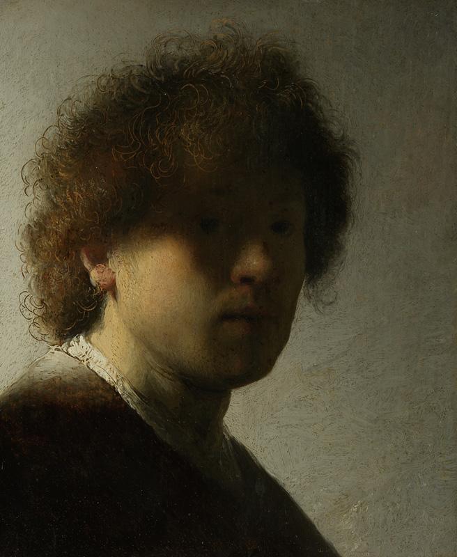Rembrandt van Rijn, Self-Portrait,  signed and dated 1628,  Rijksmuseum, Amsterdam