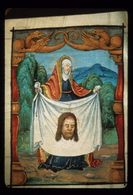 Nikolaus Glockendon,  Saint Veronica, Prayer Book of Jakob and Anna Sa, ca. 1520, Munich, Bayerische Staatsbibliothek