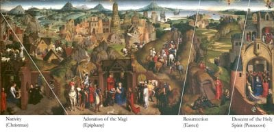 Hans Memling, Scenes from the Advent and Triumph of Christ(f, ca. 1480,