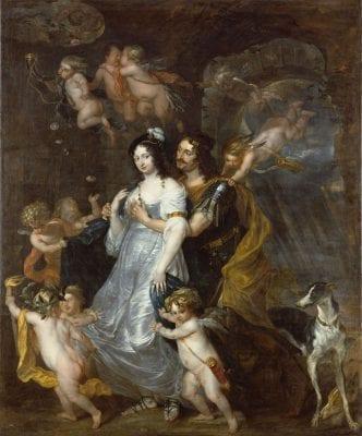 Thomas Willeboirts Bosschaert, Dido and Aeneas in the Den, 1646, Stiftung Preußische Schlösser und Gärten Berlin-Brandenburg