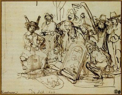 Rembrandt, A Satire on Art Criticism, 1644, The Metropolitan Museum of Art, Robert Lehman Collection, New York
