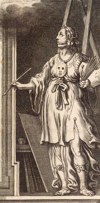 Pictura, engraving from Cesare Ripa, Iconologia, 1644,