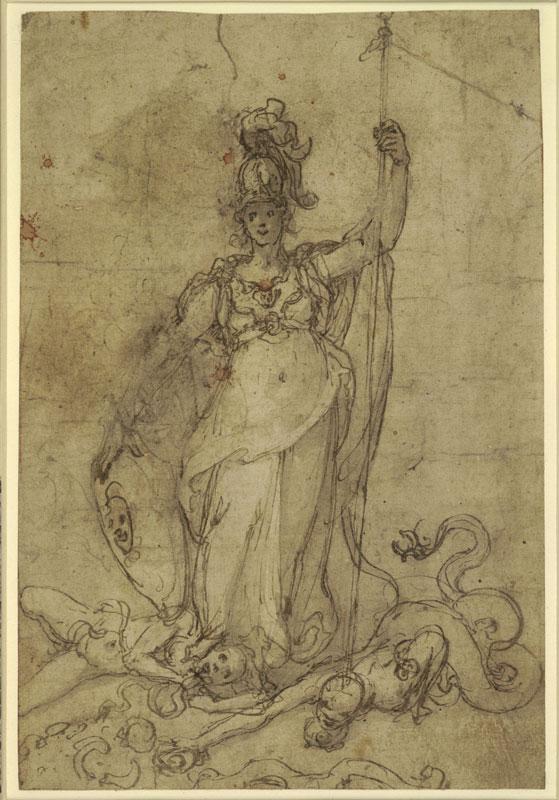 Federico Zuccaro, Minerva Subduing the Vices,  ca. 1570/81, The British Museum, London