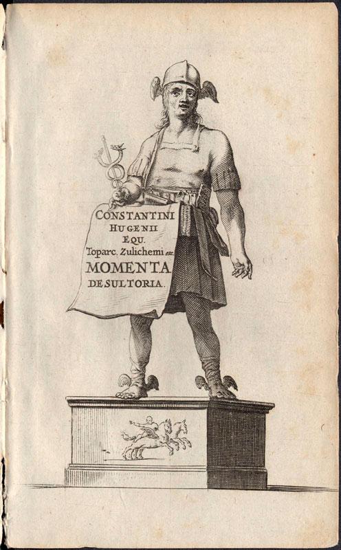 Constantijn Huygens, Mercury, title page ofMomenta Desultoria(Lei, 1644, Newberry Library, Chicago