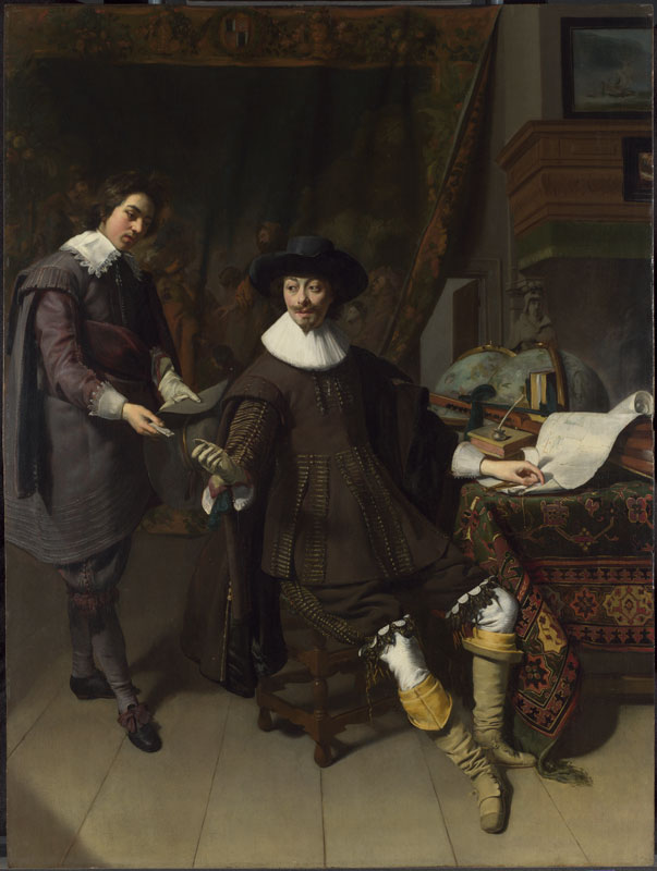 Thomas de Keyser,  Portrait of Constantijn Huygens with an Assistan, 1627,  The National Gallery of Art, London