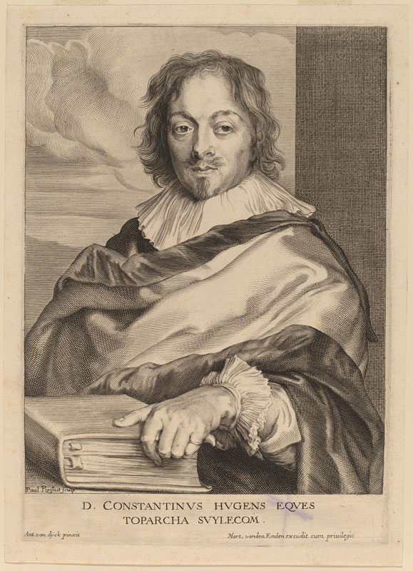 Paulus Pontius after Anthony van Dyck,  Portrait of Constantijn Huygens,  ca. 1636,  National Gallery of Art, Rosenwald Collection, Washington, D.C.