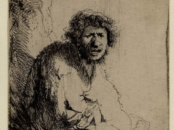 begging for attention the artful context of rembrandt s etching  rembrandt beggar seated on a bank monogrammed rhl and d 1630 british