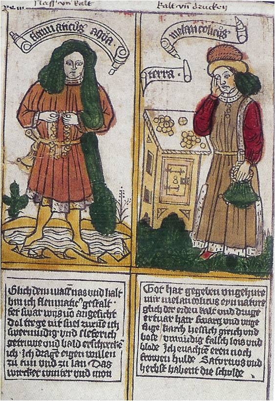 The Four Temperaments,  ca. 1450, Zentralbibliothek, Zürich