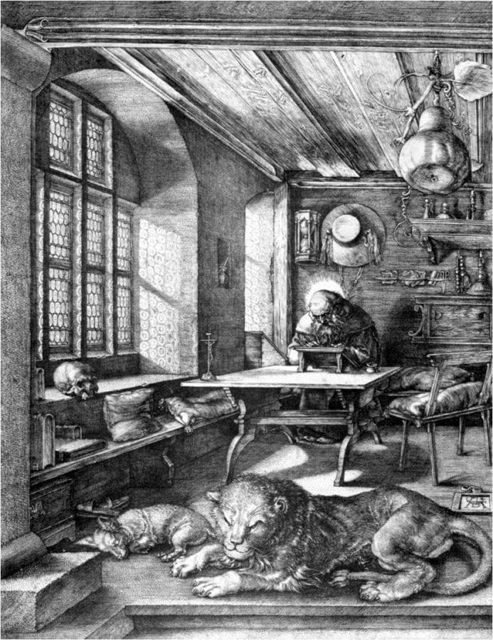 Albrecht Dürer, Saint Jerome in His Study, 1514,  Metropolitan Museum of Art, New York