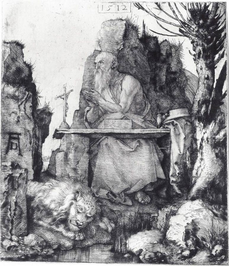 Albrecht Dürer,  Saint Jerome by the Willow Tree,  ca. 1512,  Metropolitan Museum of Art, New York
