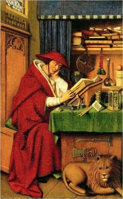 Jan van Eyck (or follower),  Saint Jerome in His Study, ca. 1441(?), Detroit Institute of Arts