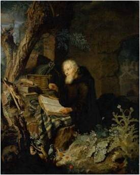 Pieter Leermans, Praying Hermit, ca. 1680, Gemäldegalerie Alte Meister, Dresden