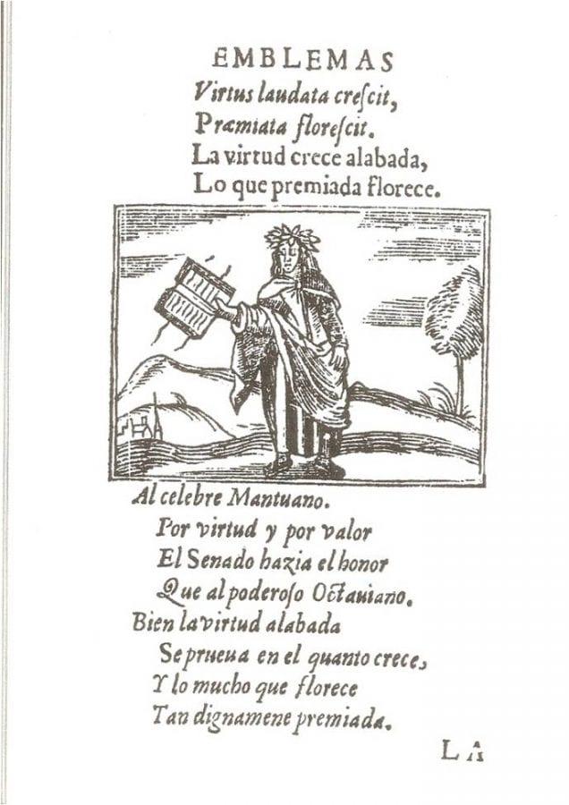 'Virtus laudata crescit' page 28 from Hernando de,