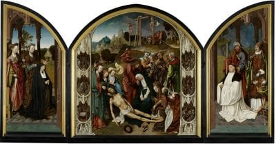Cornelis Engebrechtsz,  Triptych with the Lamentation of Christ,  ca. 1508,  Stedelijk Museum de Lakenhal, Leiden