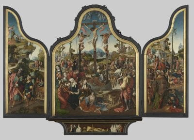 Cornelis Engebrechtsz,  Triptych with the Crucifixion of Christ,  ca. 1515–18,  Stedelijk Museum de Lakenhal, Leiden