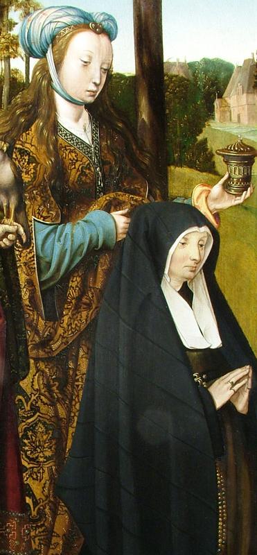 Cornelis Engebrechtsz, Lamentationtriptych (fig. 4), Detail of Mary M,  ca. 1508,  Stedelijk Museum de Lakenhal, Leiden