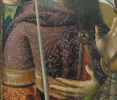 Cornelis Engebrechtsz, Crucifixiontriptych (fig. 5), Detail of the bu, ca. 1515–18, Stedelijk Museum de Lakenhal, Leiden
