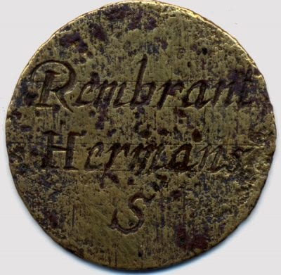 Guild Funeral Medallion of Rembrandt (recto), 1634,  Rembrandt House Museum, Amsterdam