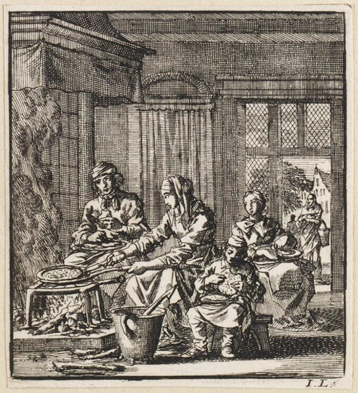 Jan Luyken,  De Pan (The Pan) from Het Leerzam Huisraad,  1711,